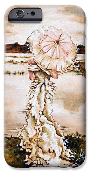 Umbrella iPhone Cases - Contemplation iPhone Case by Karina Llergo Salto