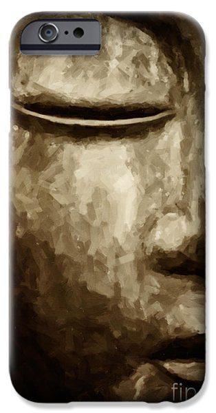 Buddhism iPhone Cases - Contemplation iPhone Case by Tim Gainey