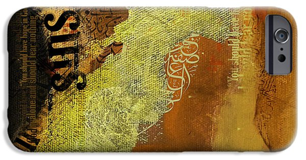 Architects Paintings iPhone Cases - Contemporary Islamic Art 064B iPhone Case by Corporate Art Task Force