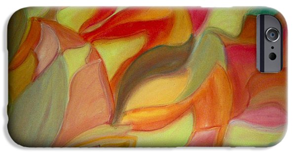Nature Abstracts Pastels iPhone Cases - Continious Petals iPhone Case by Coelina Jones