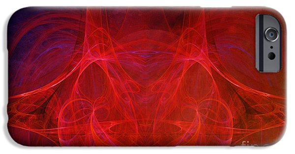 Fractal Photographs iPhone Cases - Continium iPhone Case by Edward Fielding
