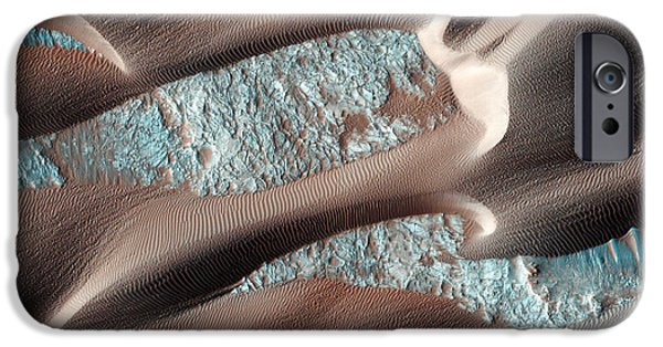 Stellar iPhone Cases - Continual Dune and Ripple Migration in Nili Patera Mars iPhone Case by Celestial Images