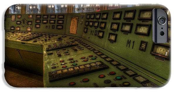 Electrical Equipment Digital Art iPhone Cases - Control room 1 iPhone Case by Nathan Wright