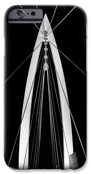 Arkansas iPhone Cases - Convergence on Wichita BW iPhone Case by JC Findley