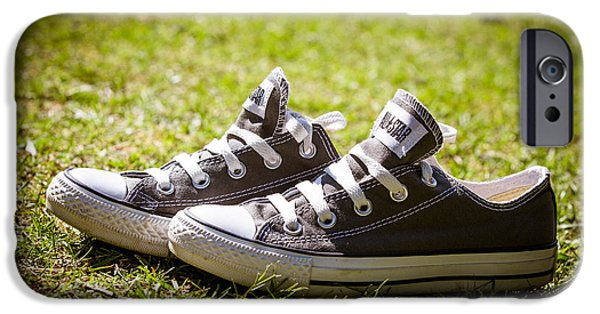 Jogging iPhone Cases - Converse pumps iPhone Case by Jane Rix
