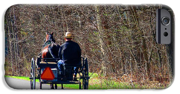 Amish Community Photographs iPhone Cases - Convertible Made Easy iPhone Case by Tina M Wenger