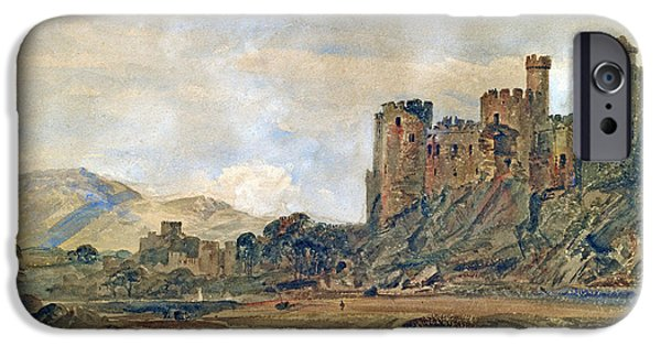 Conway iPhone Cases - Conway Castle iPhone Case by Peter de Wint