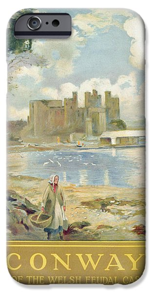 Conway Castle iPhone Case by Sir David Murray