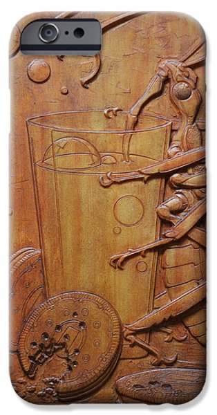 Relief Sculpture Reliefs iPhone Cases - Cookies and Milk iPhone Case by Jeremiah Welsh