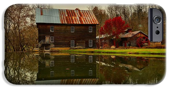 Grist Mill iPhone Cases - Cooks Old Mill - West Virginia iPhone Case by Adam Jewell