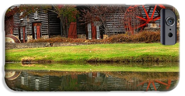 Grist Mill iPhone Cases - Cooks Old Mill Forge Building iPhone Case by Adam Jewell