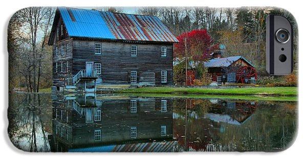 Grist Mill iPhone Cases - Cooks Old Mill West Virginia iPhone Case by Adam Jewell