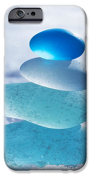 Cool Blues iPhone Case by Barbara McMahon