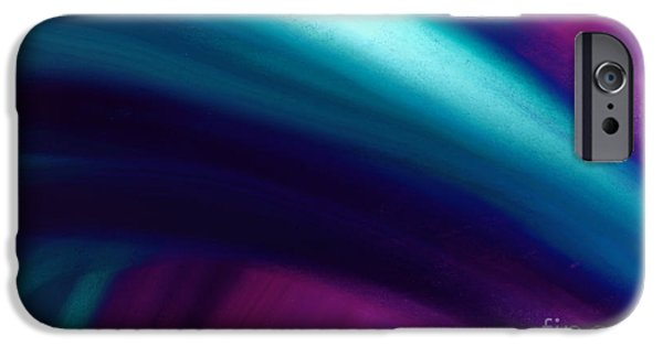 Abstract Digital Paintings iPhone Cases - Cool Breeze iPhone Case by Anita Lewis