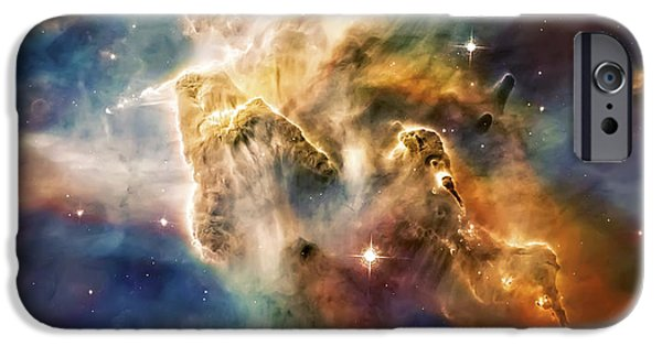 Constellations iPhone Cases - Cool Carina Nebula Pillar 4 iPhone Case by The  Vault - Jennifer Rondinelli Reilly