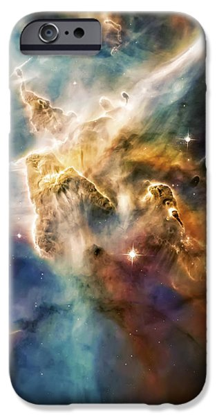 Cool Carina Nebula Pillar 4 iPhone Case by The  Vault - Jennifer Rondinelli Reilly