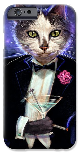 Ties iPhone Cases - Cool cat iPhone Case by Jeff Haynie