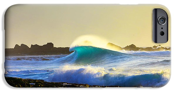 Big Waves iPhone Cases - Cool Curl iPhone Case by Sean Davey