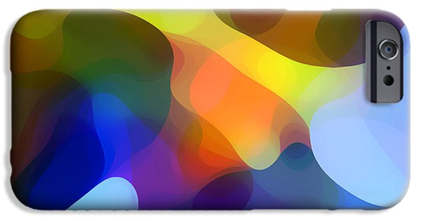 Modern Abstract iPhone Cases - Cool Dappled Light iPhone Case by Amy Vangsgard