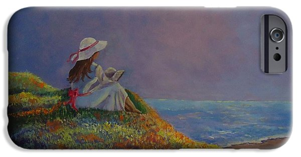 Painter Photo Paintings iPhone Cases - Cool Summer Day iPhone Case by Louise Williams