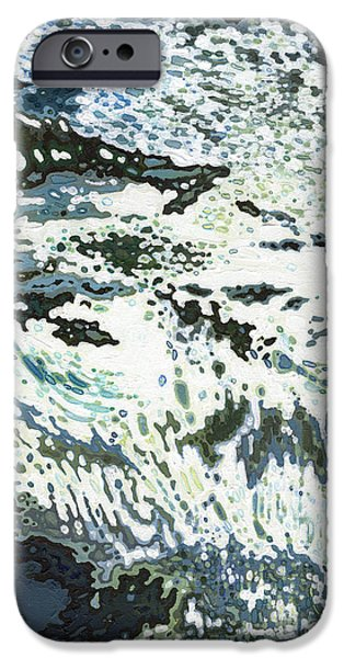 Ski Boat Prints Paintings iPhone Cases - Cool Waterfall iPhone Case by Margaret Juul