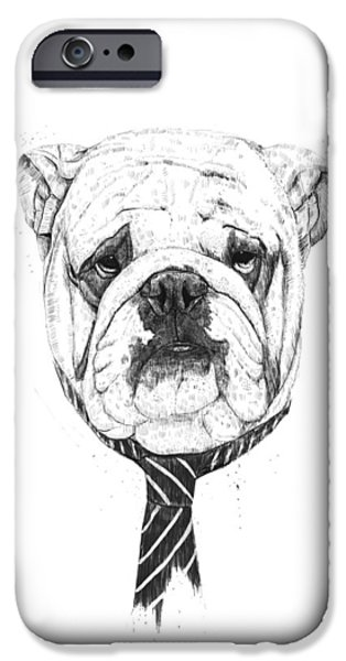Dogs Digital Art iPhone Cases - Cooldog iPhone Case by Balazs Solti