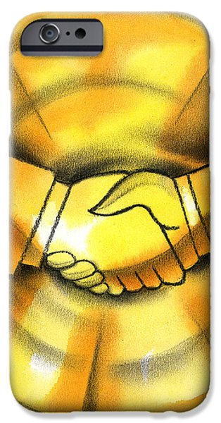 Cooperation iPhone Cases - Cooperation iPhone Case by Leon Zernitsky