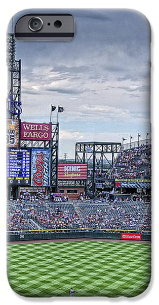 Coors Field iPhone Case by Ron White