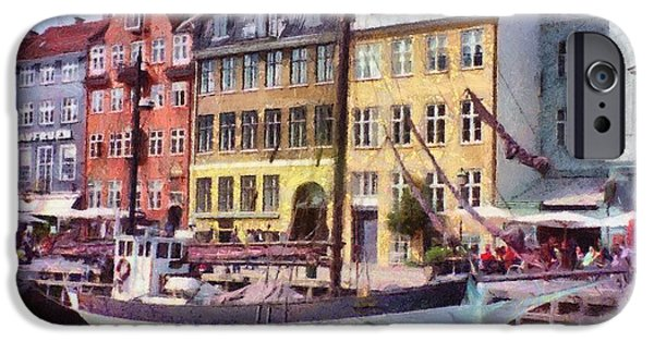 Architecture Digital iPhone Cases - Copenhagen iPhone Case by Jeff Kolker