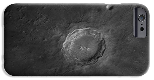 Copernicus iPhone Cases - Copernicus Crater iPhone Case by John Chumack
