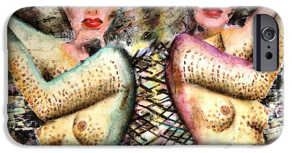Mixed Media Pastels iPhone Cases - Copies iPhone Case by Britt Olson