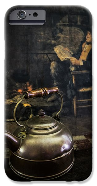 Copper Teapot iPhone Case by Debra and Dave Vanderlaan