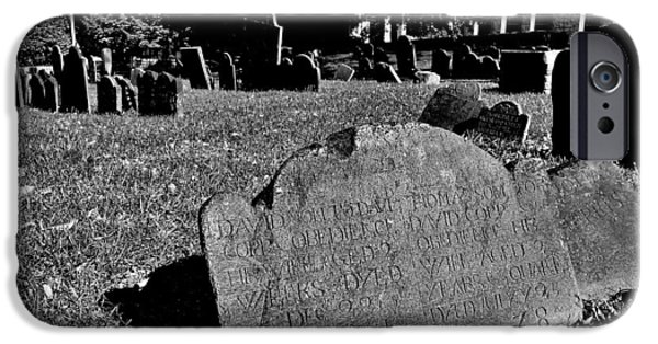 Burying Ground iPhone Cases - Copps Hill Burying Ground iPhone Case by Benjamin Yeager