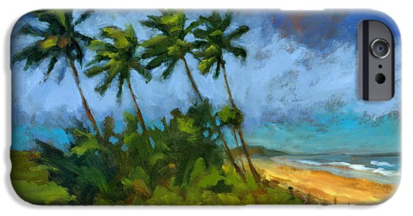 Tropical Paintings iPhone Cases - Coqueiros de Massarandupio iPhone Case by Douglas Simonson
