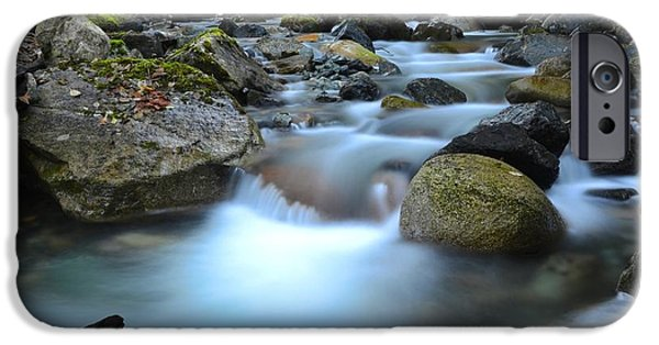 Randy Moss Photographs iPhone Cases - Coquihalla river 2 iPhone Case by Randy Giesbrecht