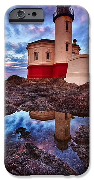 Lighthouse iPhone Cases - Coquille Rising iPhone Case by Darren  White