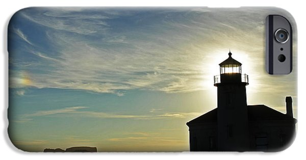 United iPhone Cases - Coquille River Light 7146 iPhone Case by Donald Sewell