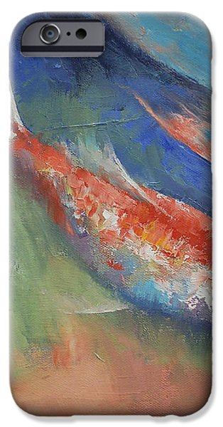 Coral and Moonstone iPhone Case by Michael Creese