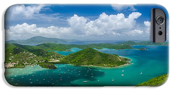 Recently Sold -  - Sailboats iPhone Cases - Coral Bay with View of British Virgin Islands iPhone Case by Kelly VanDellen