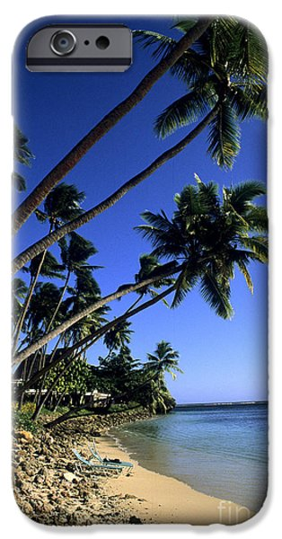 Beach Landscape iPhone Cases - Coral Coast, Fiji iPhone Case by Bill Bachmann