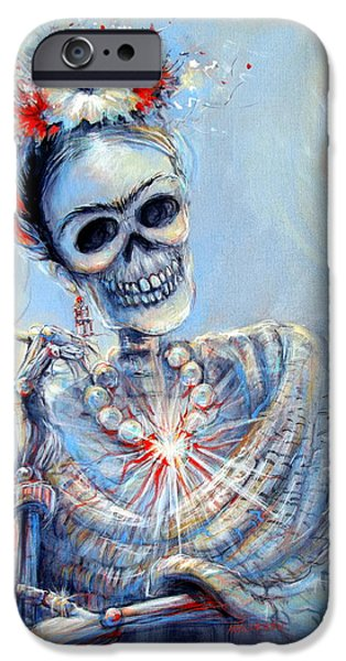 Diego Rivera iPhone Cases - Corazon de Frida iPhone Case by Heather Calderon