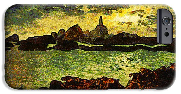 Abstract Seascape iPhone Cases - Corbiere Lighthouse iPhone Case by Unknown
