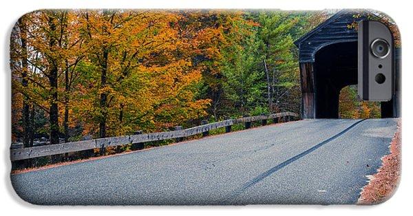 Covered Bridge iPhone Cases - Corbin Covered Bridge Vermont iPhone Case by Edward Fielding