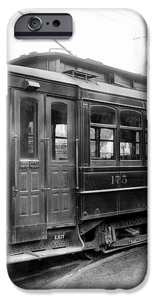 CORBIN PARK STREET CAR NO. 175 - 1915 iPhone Case by Daniel Hagerman