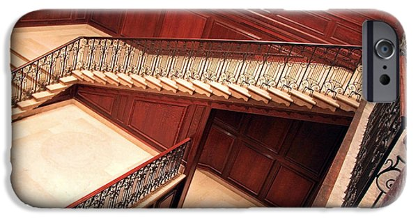 Cora Wandel iPhone Cases - Corcoran Gallery Staircase iPhone Case by Cora Wandel