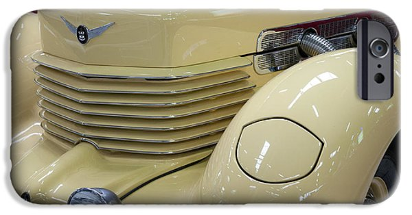Compressor iPhone Cases - Cord 812 Oldtimer from 1937 Front iPhone Case by Heiko Koehrer-Wagner