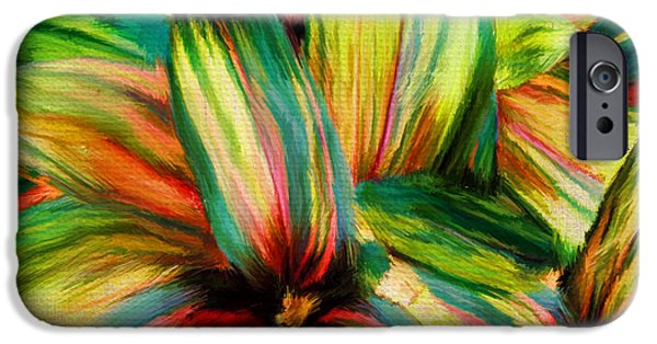 Garden Digital Art iPhone Cases - Cordyline iPhone Case by Lourry Legarde