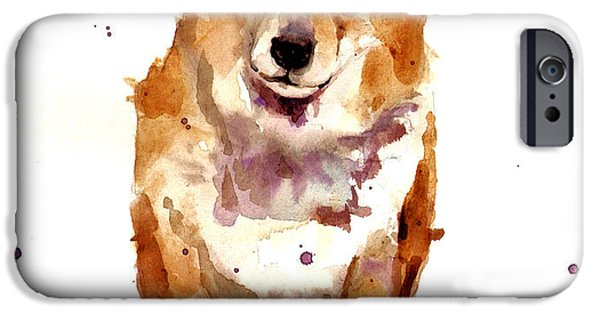 Dog Breed iPhone Cases - Corgi Lady iPhone Case by Alison Fennell