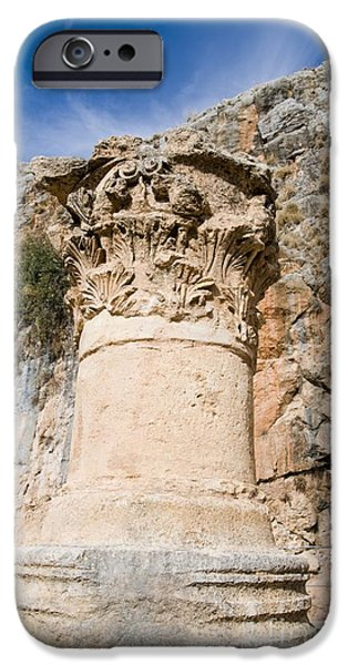 Zeus iPhone Cases - Corinthian Capital, Temple Of Zeus iPhone Case by PhotoStock-Israel