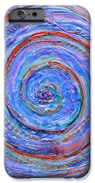 Coriolis 3 iPhone Case by Regina Valluzzi